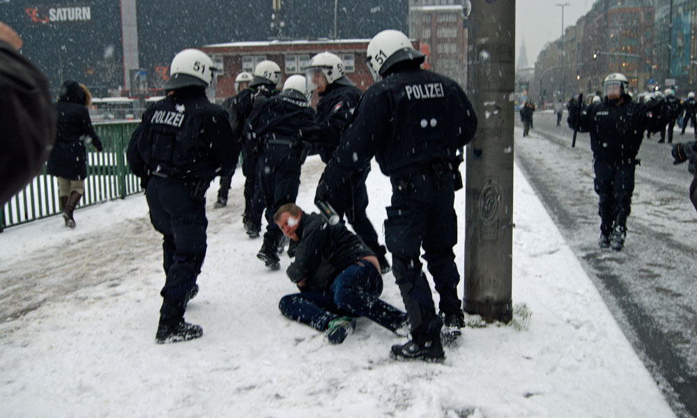Die Polizei will die Demonstration der