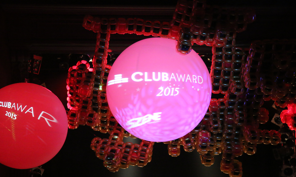 Baloonart: Leinwand des Hamburger Clubawards