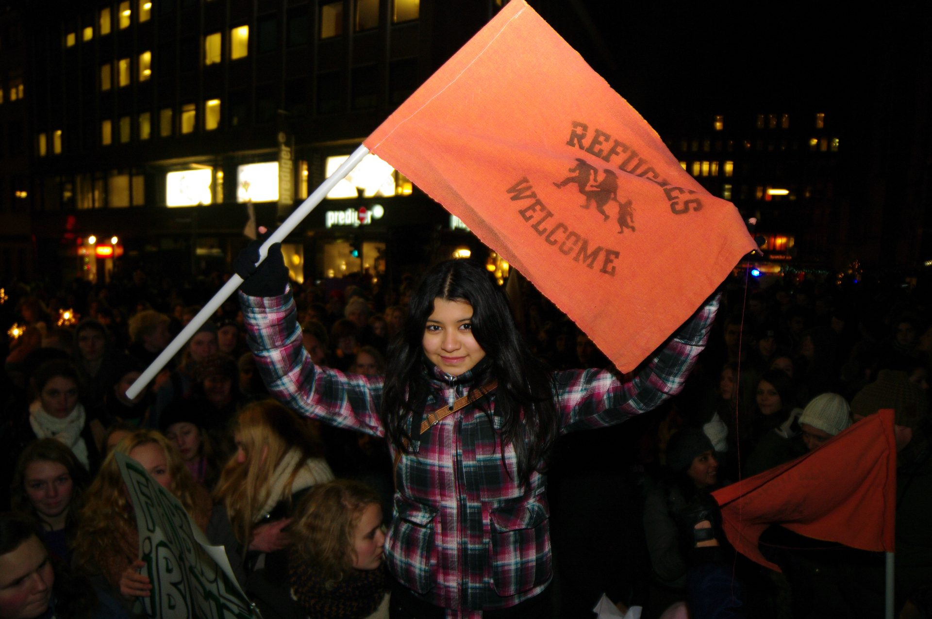 Demo gegen Abschiebung von Einwanderern