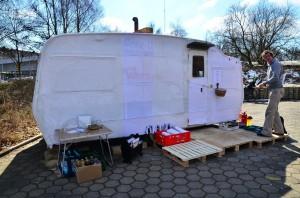Foto: Jonas Walzberg Mobile Sauna Wilhelmsburg