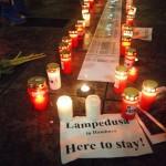 """Haben die Flucht überlebt und hoffen auf eine Zukunft in Hamburg - die Gruppe """"Lampedusa in Hamburg"""""""