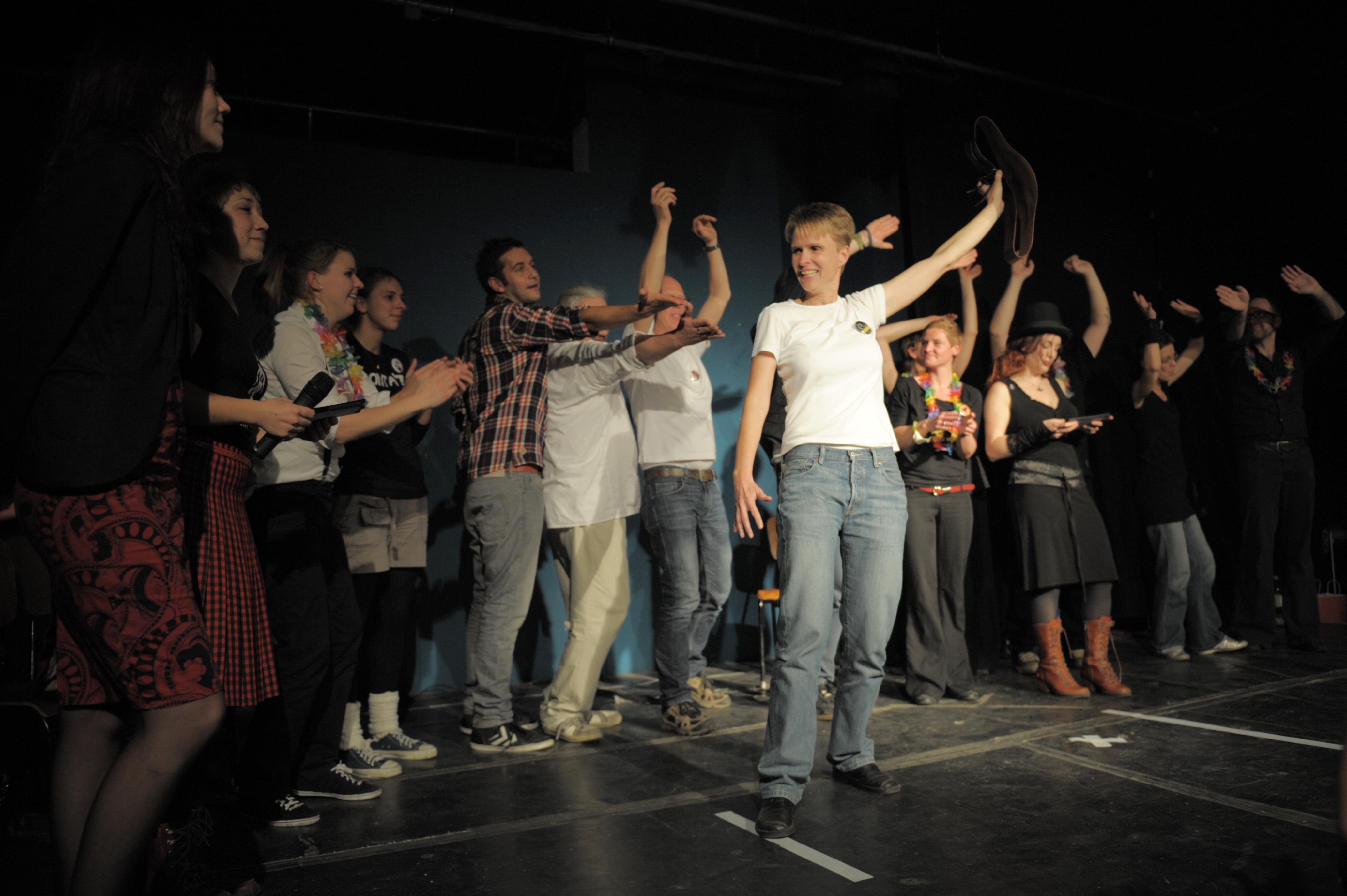 Die Gewinnerin der Fight Night 2013: Karin Kellner von Instant.SL aus Lübeck;  Foto: Alexandra Heneka