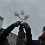 "Foto: Jonas Walzberg | Gefahrengebiet ""Brushmob"" 11. Januar 2014"