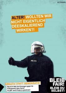 Cannabis-Kampagne-Satire: Polizeigewalt | Foto: Tobias Johanning