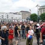 Eine Zwischenkundgebung auf dem Rathausmarkt wurde genehmigt.