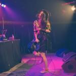 """Eine Prise Rockabily-Flair wehte beim Auftritt von Marla Blumenblatt übers Festivalgelände. """"Immer die Boys"""" nennt sich das Debütalbum der 28jährigen Künstlerin, darauf kokettiert sie mit dem Weiblichkeitsimage der 60er-Jahre."""