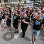 Auf die Verfolgung von Homosexuellen in anderen Ländern wurde auch aufmerksam gemacht.