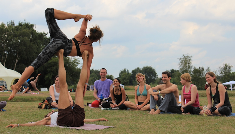 Yoga Wasser Klang Festival Pressefoto