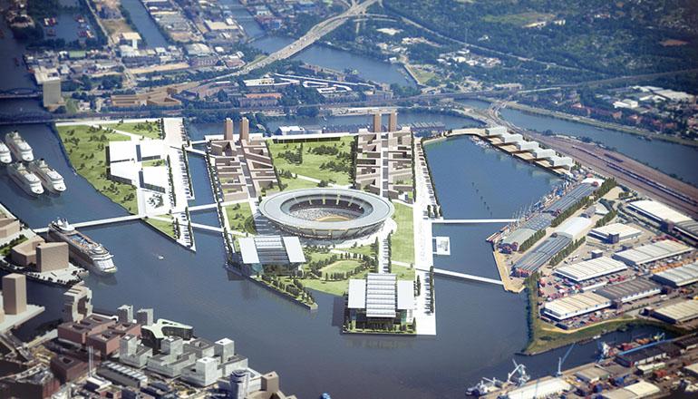 Architekturdarstellung im Auftrag von gmp-architekten Hamburg