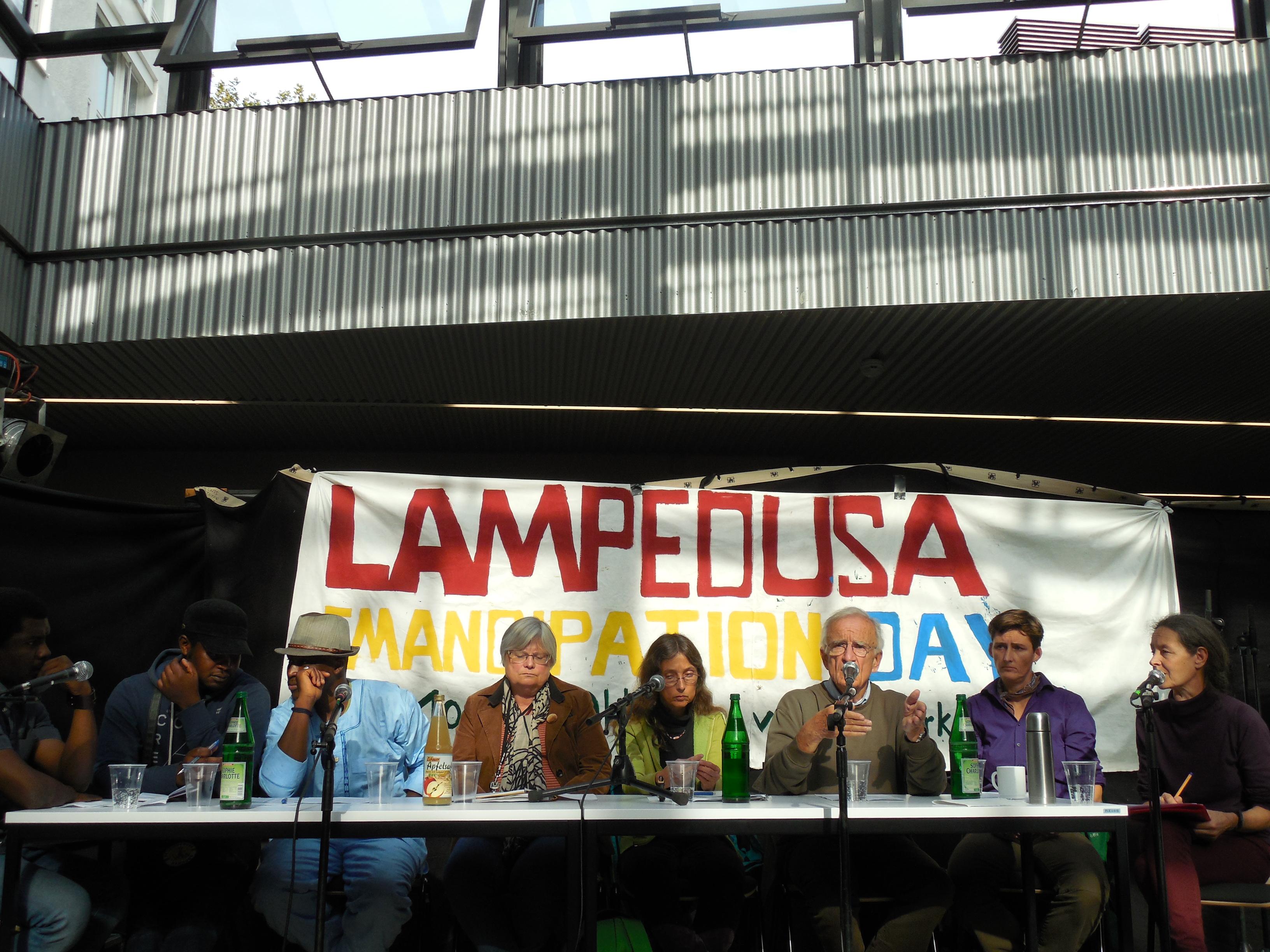 Lampedusa in Hamburg Diskussion Oktober 2014