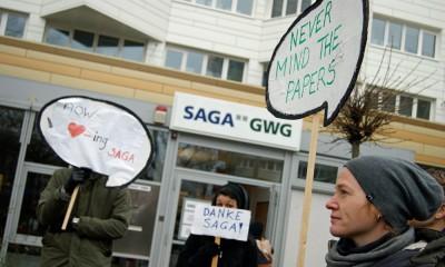 Protest gegen die Saga, 22.1.2015, Foto: Isabella David