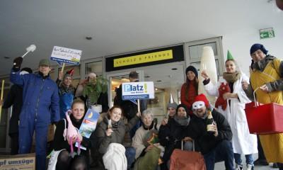 Die goldene Gentrifizierungsschraube, Pro Wohnen Ottensen, Foto: Larina Kistenbrügger