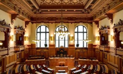 Plenarsaal_Hamburgische_Bürgerschaft_IMG_6403_6404_6405_edit, Foto: Christoph Braun
