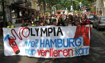 """Nolympia-Demonstration: """"Weil Hamburg nur verlieren kann"""""""
