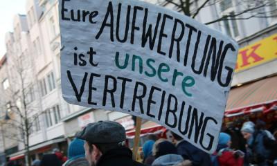 Protest gegen Gentrifizierung, Foto: Henry Lührs